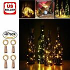 4pcs Wine Bottle Cork Lights Copper Led Light Strips Rope Lamp Kit Diy For Decor