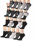 Tipi Toe Women's 20 Pairs Colorful Patterned Low Cut No Show