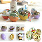 1PC Easter Bunny Chick Printed Metal Trinket Tin Eggs Candy