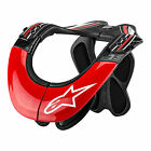 Alpinestars BNS Tech Carbon Neck Support Brace Motocross Dirtbike - Red/White
