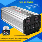 3000W Pure Sine Wave Inverter DC12V or 24V To AC110V or 220V Converter Power LED