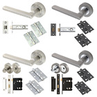 Vela Designer Door Handles Sets Internal Lever Door Packs Graphite Satin