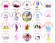 30 Personalised party/gift bag, sweet cone stickers, seals, labels, Any design