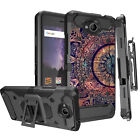 For [ZTE Majesty Pro / Plus  ] Hybrid Shock Heavy Duty Combo Holster Case Clip