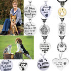 Dog Cat Pet Loss Memory Necklace Pendant Charm Chain Jewelry Paw Prints Gift