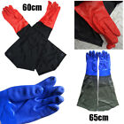 2Pair PVC Work Gloves Waterproof Heavy Duty Chemical Fishing Gauntlets Safety AA
