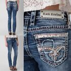 NWT New Womens Rock Revival Luiza Straight Jeans 25 26 27 28 29 30 31 32  Long