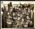 1948 Hockey Press Photo Barrie Flyers Beating Montreal Nationals Championships
