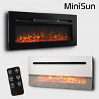MiniSun Large LED Backlit Electric Fire Wall Mounted 0.500W / 1KW Lounge Heater