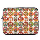 Zipper Sleeve Bag Cover - Owls Family - Fits Most Laptops + MacBooks