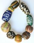 10 Mixed Old European Glass Beads - African Trade Beads