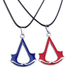 Assassins Choker Necklace Rope Chain Pendant Necklace Red Blue Leather Gift Fans