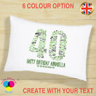 Personalised Birthday Gift Pillow Case 18th 21st 30th 40th 50th Anniversary Gift