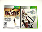 Lot of 2 XBOX 360 Games  Rage & Final Fantasy XIII *** Brand New ***