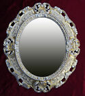 Wall Mirror in Gold Oval 17 11/16x15in Baroque Antique Repro Vintage 345 12