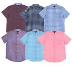 Tommy Hilfiger Button Up Shirt Mens Short Sleeve Classic Fit Casual Flag Logo