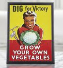 WW2+Food+Poster+Propaganda+-+Grow+Your+Own+Vegetables%2C+Homefront%2C+Vintage+Poster