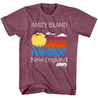 OFFICIAL Jaws Mens T-Shirt Amity Island Vintage Retro Poster New England