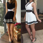 Sexy Women Cocktail Evening Party Sleeveless Lace Short Mini Dress Casual Summer