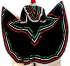 Black Authentic Jalisco Mexican Folklorico Dance Dress 5 de Mayo Rodeo Adult NWT