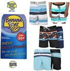 Big and Tall Mens Swim Trunks Pocket Board Shorts Banana Boat UPF 50+ Protection