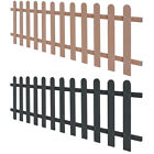 vidaXL WPC Picket Fence Outdoor Fence Panel Barrier Grey/Brown Multi Sizes