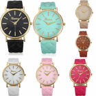 Fashion Women Geneva Roman Watch Lady Leather Band Analog Quartz Wrist Watches image