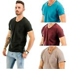"""TINFL"" Multi Pack Men's Cotton Blend Comfy Short Sleeve V Neck T-Shirts"