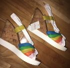 Wedge Women's Shoes Size 5/ 37  Rainbow Look