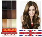 20 Inch 5A Premium 100% Rmey Full Head Weft Human Hair Extensions UK 21 Colours