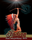 Indian Motorcycle Pretty Maiden Girl Nude Fine-Art Print NEW 2018 REVISION Intnl