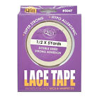 Qfitt Lace Tape for Wigs  Hairpieces 1/2 x 5 Yards Double Sided Strong Adhesive