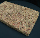 We601t Paisley Leaf Damask Chenille Sofa Seat 3D Box Shape Cushion Cover*Custom