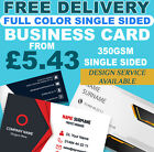QUALITY BUSINESS CARD FULL COLOR SINGLE SIDED