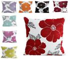 """NEW Soft LUXURY Polyester Chenille Floral Printed Cushion Covers 18"""" Cover ~"""