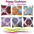 """Soft LUXURY Polyester Chenille Floral Printed Cushion Covers 18"""" 45cm Cover #"""