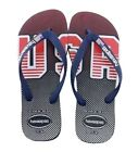 NWT - Havaianas Top USA Fashion Navy Blue Flag Unisex Flip Flops Sandals