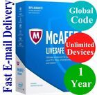 McAfee LiveSafe Unlimited Devices / 1 Year (Unique Global Key Code) 2018