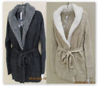 Gilligan & O'Malley house sweater short robe cardigan style OATMEAL or CHARCOAL