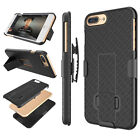 FOR IPHONE 8 / 8 PLUS SHELL HOLSTER BELT CLIP COMBO CASE COVER WITH KICKSTAND