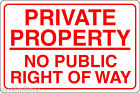 PRIVATE PROPERTY NO PUBLIC RIGHT OF WAY 20cmx30cm