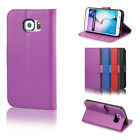Flip Phone Case Leather Wallet Phone Cover Magnetic Clasp Samsung Galaxy Phones