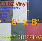 6' x 8' 10 Oz. Vinyl Waterproof Tarp - Truck Trailer Equipment Cover