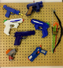 CREAM PAINTED Nerf / Toy Gun Hanging Kit, pegboard ,fixings and hanging pegs