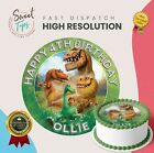 THE GOOD DINOSAUR EDIBLE ROUND BIRTHDAY CAKE TOPPER DECORATION PERSONALISED