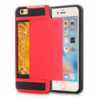 For iPhone 8 7 6 6S 5 S SE Plus Case - Hard Shockproof Tough Armor Wallet Cover