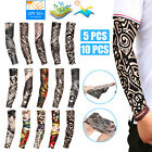 Tattoo Cooling Arm Sleeves Cover Basketball Golf Sport UV Sun Protection 5/10pcs