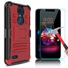 For LG K30/Premier Pro LTE Armor Case With Kickstand Belt Clip/Screen Protector