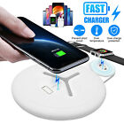 2 In 1 Fast Qi Wireless Charger Charging Dock Pad For Apple Watch iPhone 8 X XS