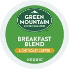 Green Mountain Breakfast Blend Coffee 24 to 144 Keurig K cup Pods Pick Any Size
